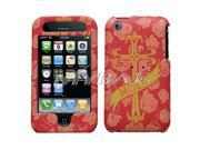 MYBAT Deluxe Holy Cross Maroon Phone Protector Faceplate Cover Compatible With Apple® iPhone 3GS/3G