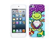 MYBAT Purple Lotus Frog Design TPU Plastic Gummy Skin Phone Case for Apple iPod Touch 5
