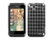 MYBAT T-Clear Argyle Pane Candy Skin Cover for HTC ADR6330 (Rhyme)