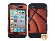 MYBAT Basketball-Sports Collection/Black TUFF Hybrid Phone Protector Cover Compatible With Apple® iPod touch 4th generation