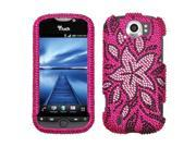 MYBAT Tasteful Flowers Diamante Protector Cover for HTC myTouch 4G Slide