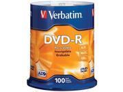 Verbatim 95102 4.7 Gb Dvd-Rs ,100-Ct Spindle
