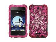 MYBAT Tasteful Flowers Diamante Protector Cover for ZTE X500 (Score)