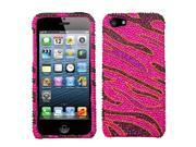 Apple iPhone 5/5S Case, Rhinestone Diamond Bling Hard Snap-in Case Cover for Apple iPhone 5/5S, Pink
