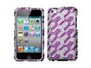 MYBAT Purple White Rocket Diamante Protector Cover for Apple® iPod touch® (4th generation)