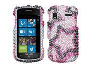 MYBAT Diamante Protector Case compatible with Samsung© i917 (Focus), Twin Stars