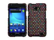 MYBAT Diamante Phone Protector Case compatible with Samsung© I777 (Galaxy S II), Sprinkle Dots