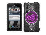 MYBAT Center of Attention Diamante Phone Protector Cover for MOTOROLA XT862 (Droid 3)