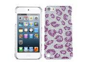MYBAT Leopard Skin/Purple Diamante Back Protector Cover for Apple® iPod touch® (5th generation)