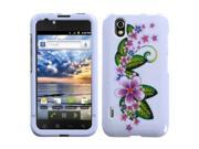 MYBAT Purple Small Flowers Phone Protector Faceplate Cover Compatible With LG LS855(Marquee)