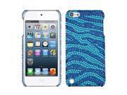 MYBAT Zebra Skin (Baby Blue/Dark Blue) Diamante Back Protector Cover for Apple® iPod touch® (5th generation)