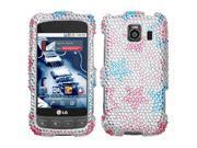 MYBAT Stylish Stars Diamante Protector Cover for LG LS670 (Optimus S), Optimus U, VM670 (Optimus V)