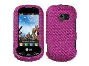 MYBAT Hot Pink Diamante Protector Faceplate Cover(Diamante 2.0) Compatible With LG VN271(Extravert)