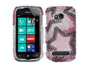 MYBAT Twin Stars Diamante Protector Cover for NOKIA 710 (LUMIA)