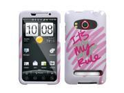MYBAT It's My Rule Sparkle Phone Protector Cover for HTC EVO 4G