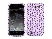 MYBAT Purple Mixed Polka Dots Phone Protector Cover Compatible With ZTE: N9500 (Flash)