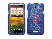 MYBAT Juicy Flower Diamante Protector Cover for HTC One X, One X+