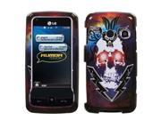MYBAT Lightning Skull Phone Protector Cover for LG LN510 (Rumor Touch), UN510 (Banter Touch)