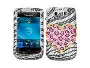 MYBAT Playful Leopard Diamante Phone Protector Cover for RIM BLACKBERRY 9800 (Torch), 9810 (Torch 4G)