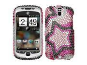 MYBAT Twin Stars Diamante Protector Cover for HTC myTouch 3G Slide