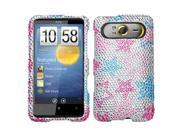 MYBAT Stylish Stars Diamante Protector Cover for HTC HD7, HD7S