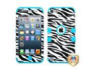 MYBAT Zebra Skin/Tropical Teal TUFF Hybrid Phone Protector Cover Compatible With Apple® iPod touch (5th generation)