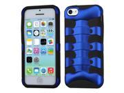 MYBAT Titanium Dark Blue/Black Ribcage Hybrid Protector Cover Compatible With Apple® iPhone 5C