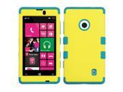MYBAT Rubberized Yellow/Tropical Teal TUFF Hybrid Phone Protector Cover Compatible With NOKIA 521 (Lumia 521)