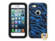 MYBAT Natural Black/Zebra Skin (Dark Blue/Black)TUFF eNUFF Hybrid Phone Protector Cover Compatible With Apple® iPhone 5, iPhone 5s