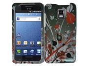 HRW Design Phone Case Cover Compatible With Samsung© i997 Infuse 4G , Red Burst