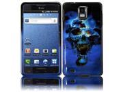HRW Design Phone Case Cover Compatible With Samsung© i997 Infuse 4G , Blue Skull