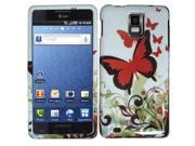 HRW Design Phone Case Cover Compatible With Samsung© i997 Infuse 4G , Brown Fly
