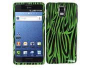 HRW Design Phone Case Cover Compatible With Samsung© i997 Infuse 4G , Neongreen Zebra