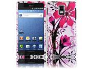 HRW Design Phone Case Cover Compatible With Samsung© i997 Infuse 4G , Pink Splash
