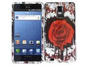 HRW Design Phone Case Cover Compatible With Samsung© i997 Infuse 4G , Rose Splash