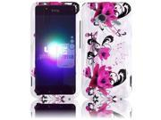 HRW for HTC Droid Incredible 4G LTE 6410 Fireball Design Cover - Purple Lily