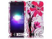 HRW for HTC Droid Incredible 4G LTE 6410 Fireball Design Cover - Pink Splash