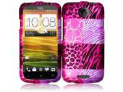 HRW for HTC One X Rubberized Design Cover - Pink Exotic Skins