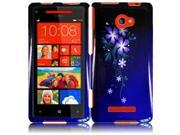 HRW for HTC Windows Phone 8X HTC 6990 HTC Zenith(AT & T, T Mobile, Verizon) Design Cover - Nightly Flower