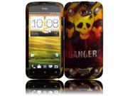 HRW for HTC One X Rubberized Design Cover - Danger