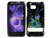 HRW for HTC Thunderbolt 6400 / Incredible HD Design Cover - Blue Flower