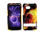 HRW for HTC Thunderbolt 6400 / Incredible HD Design Cover - Fire Skull