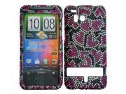 HRW for HTC Thunderbolt 6400 / Incredible HD Full Diamond Cover - Nightly Hearts
