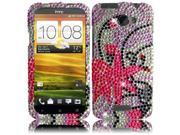HRW for HTC One X (AT & T) Full Diamond Cover - Pink Splash
