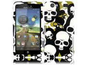 HRW for Motorola Atrix 3 MB886 Atrix HD(AT & T) Design Cover - Camouflage Falling Skull