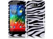 HRW for Motorola Droid Razr Maxx HD XT926M(Verizon) Design Cover - Zebra