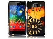 HRW for Motorola Droid Razr Maxx HD XT926M(Verizon) Rubberized Design Cover - Ace Poker