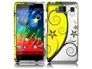 HRW for Motorola Droid Razr Maxx HD XT926M(Verizon) Rubberized Design Cover - Pleasant Swirl