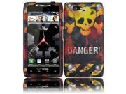HRW for Motorola XT913/XT916 Droid Razr Maxx Rubberized Design Cover - Danger