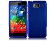 HRW for Motorola Droid Razr Maxx HD XT926M(Verizon) Rubberized Cover - Blue